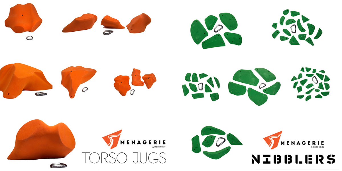 Menagerie Climbing's Torso Jugs and Nibblers