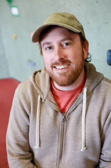 Matt Lambert, owner of Rogue Rock Gym interviewed in this Behind the Desk
