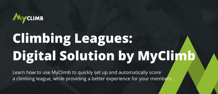 Climbing Leagues Digital Solution - MyClimb App Header
