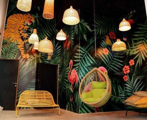 Performance Rock's impressive lounge area.