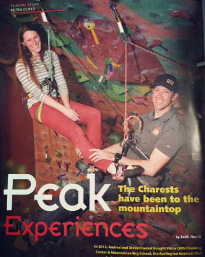 Behind the Closures with Andrea Charest - Petra Cliffs on the cover of Peak Experiences
