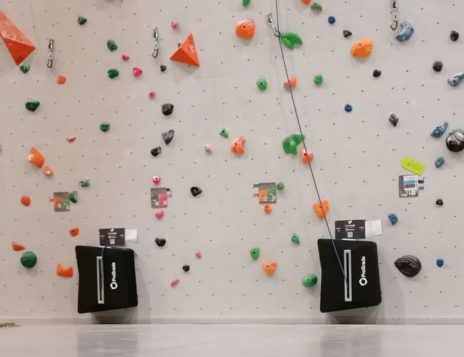 More lead climbing auto belays in the gym