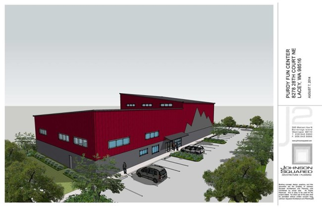 The new Warehouse Rock Gym rendering.