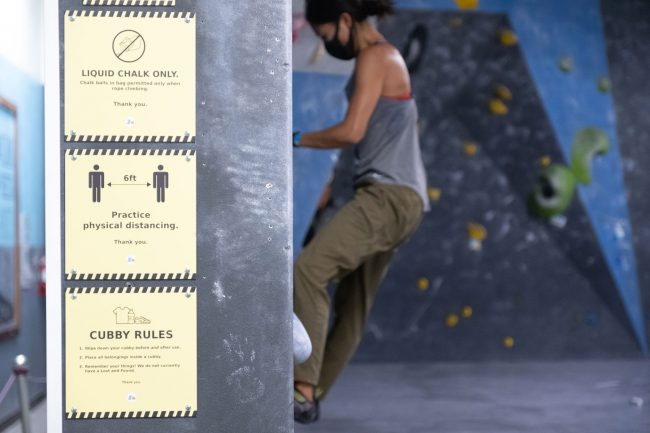Climbing gym safety signs