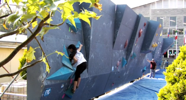 Bouldering at the Pan-Am Youth International