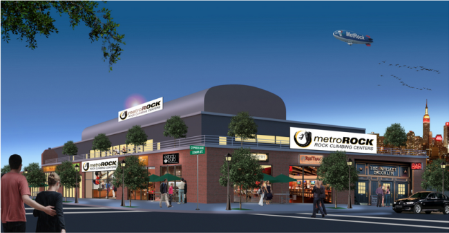 Rendering of Metro Rock Brooklyn.  Photo: Metro Rock