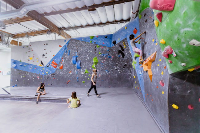 P.E. climbing sessions in between studying