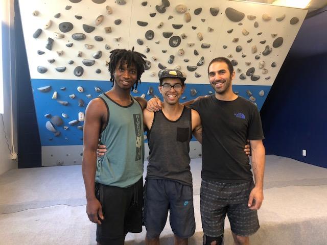 The routesetting crew at Memphis Rox: Tyler, Josh and Chris.