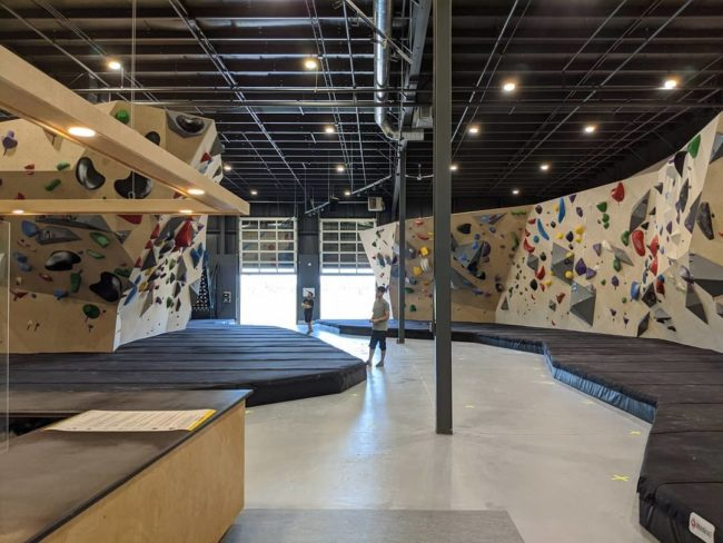 Seven Bays Bouldering, pictured here, is another gym that recently opened for the first time.