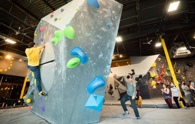 COVID-19 mitigation efforts at Delire Climbing gym