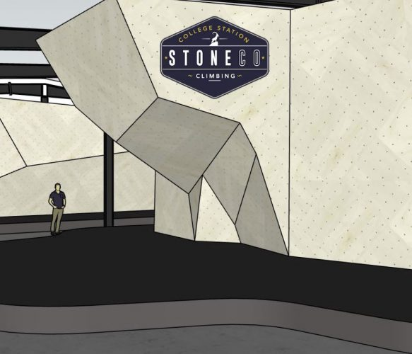 Rendering of Stone Co. Climbing gym