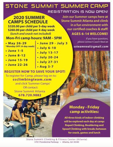 Summer Youth Program Marketing - an old Stone Summit camp flier.