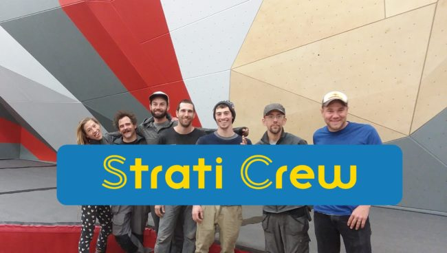 The dedicated Strati Climbing crew