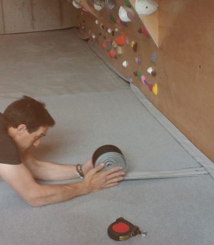 Strati Climbing owner Ernest Coletta working hard