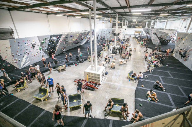 Carlo Traversi's bouldering gym in California