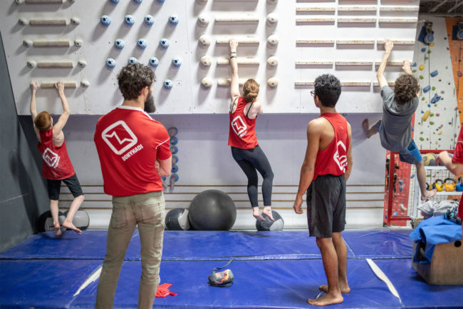 Climbers training during a Summer Youth Program