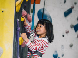 Summer Youth Program girl climbing