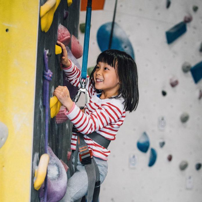 Summer Youth Program girl climbing