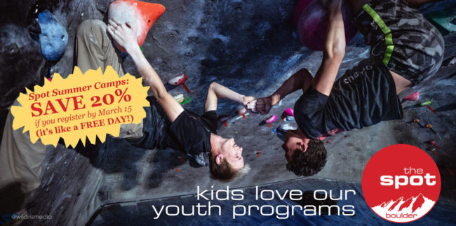 Summer Youth Program Marketing - an early bird promo at The Spot.