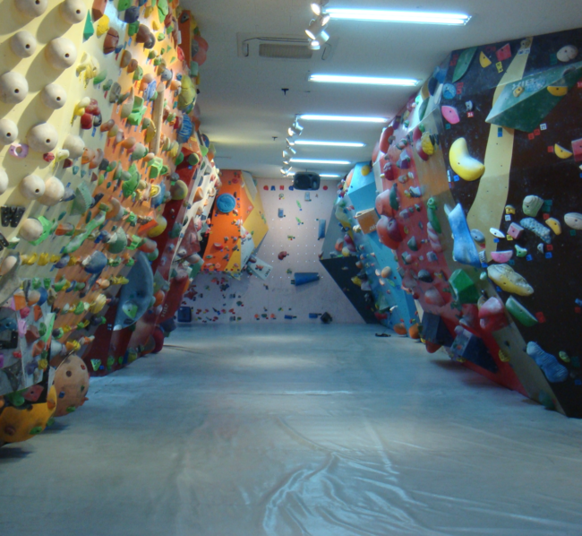 The interior of Ganseo Climbing gym which opened in 2015.