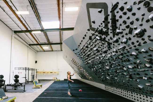 The training area at Carlo Traversi's gym