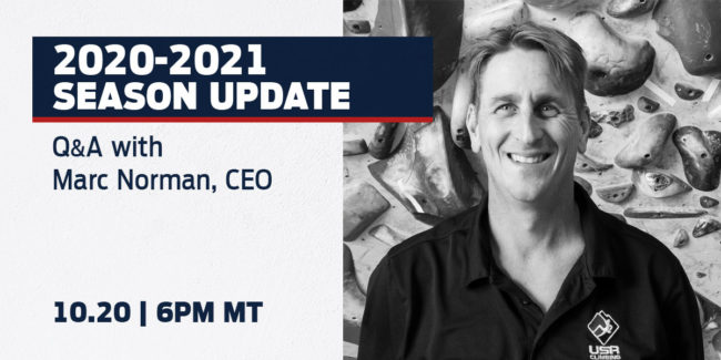 USA Climbing CEO Marcon Norman Will Host Live Q&A