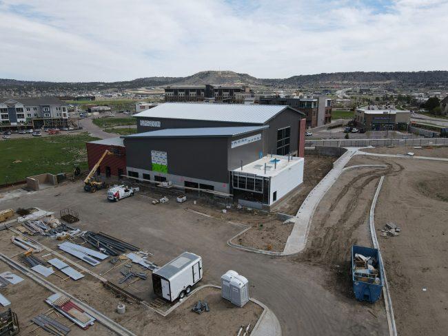 The new Übergrippen gym under construction