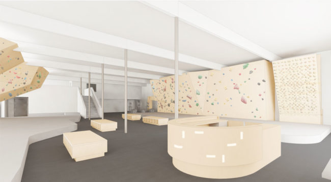 Concept art for the new Seattle-area bouldering gym planned