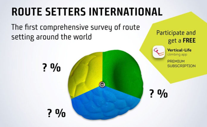 Vertical Life route setter survey