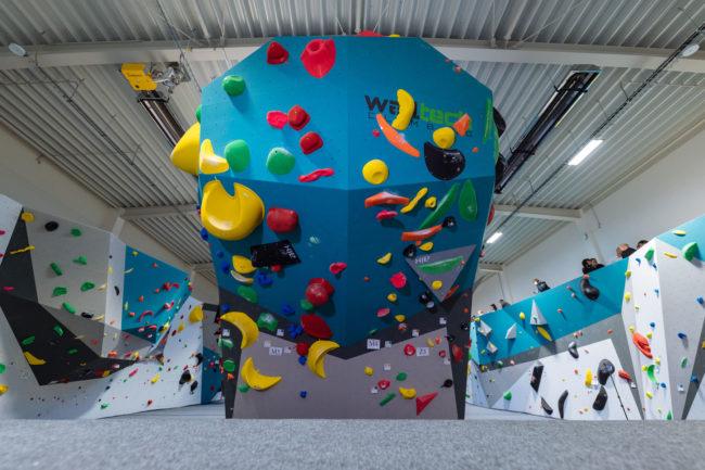 Walltech climbing walls at Hangar, Playground by Adam Ondra
