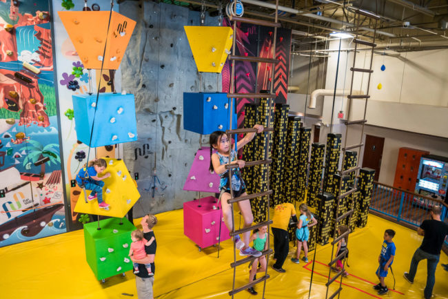 Indoor climbing and entertainment equipment