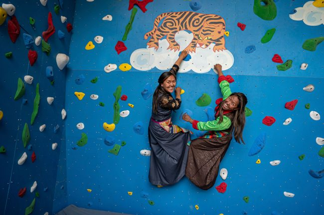 Highest altitude climbing wall by Walltopia