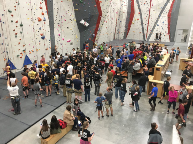 A competition of Wisconsin's High School Climbing League.