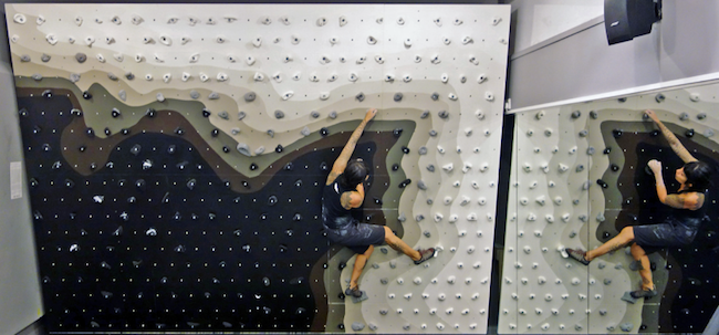 The Ace Hotel bouldering wall.  Photo: Core77.com