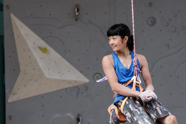 Ashima Shiraishi. Photo for IFSC by Eddie Fowke.