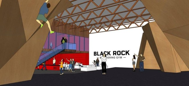 Black Rock Bouldering gym.