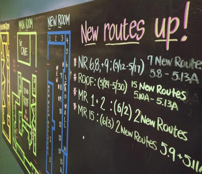 New routes at the Boston Rock Gym.  Photo: BRG