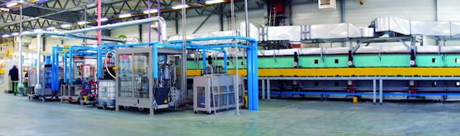 High-tech polyurethane mixing equipment. Photo: Cannon Group