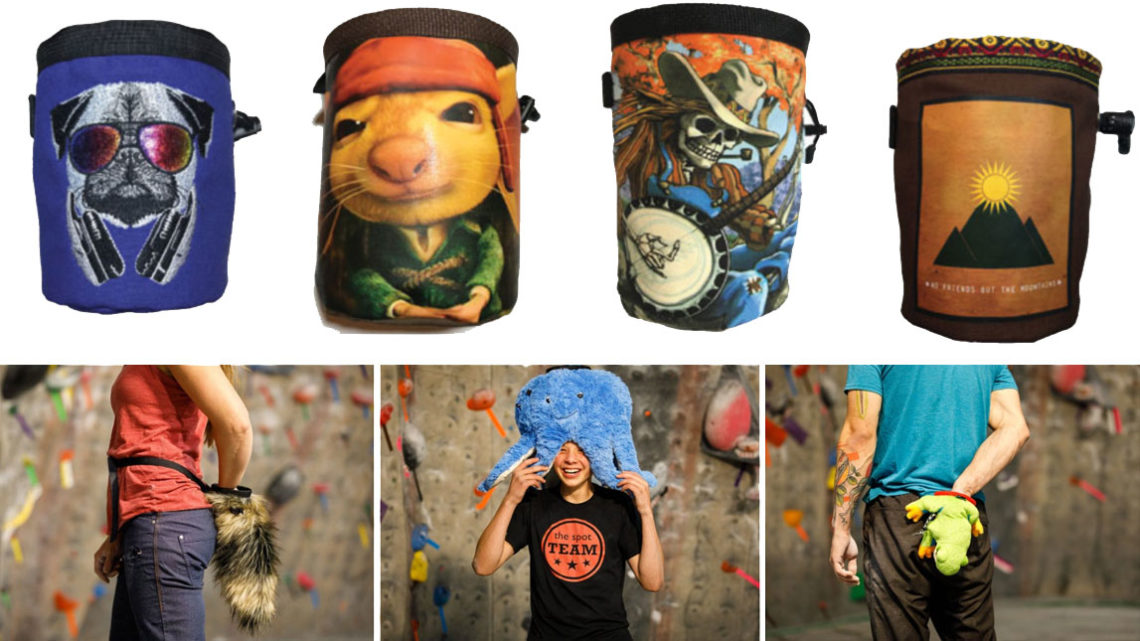 Chalkbags by Pure Grit and Crimp Chimps