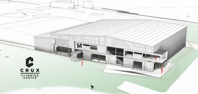 Rough draft of the Crux building