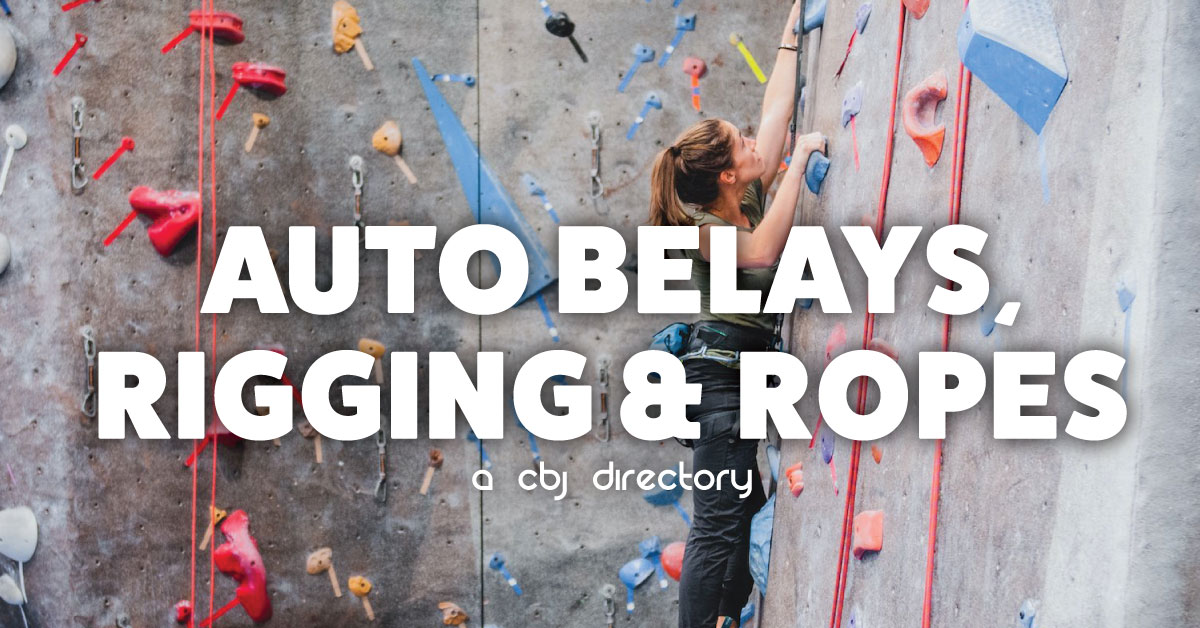 auto belays, rigging and ropes