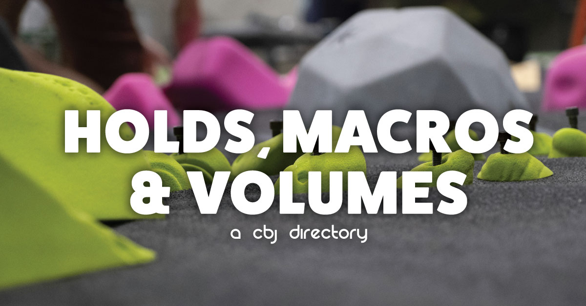climbing holds macros and volumes