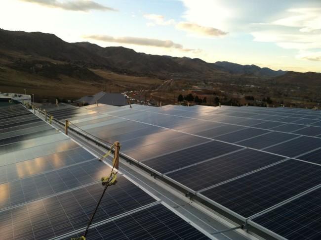 Earth Treks - Golden roof top solar. Photo: ET