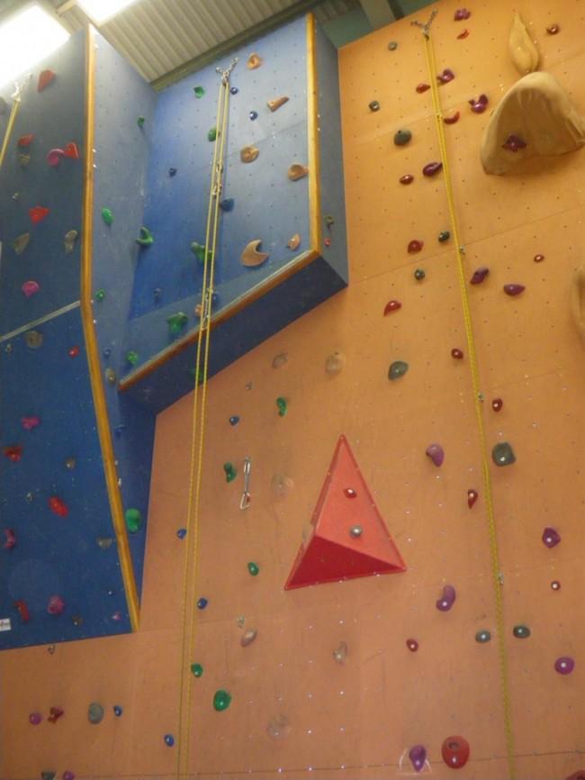 Manningtree High School's climbing wall