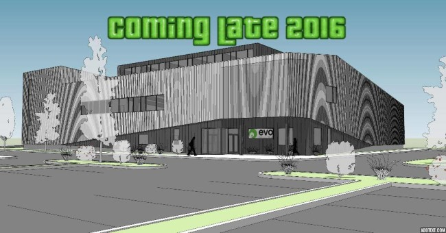 Rendering of the new Evo Rock in Louisville, CO.