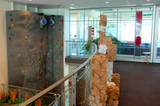 Climbing wall at Google Headquarters