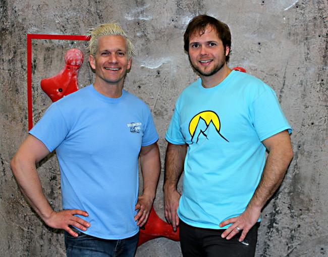 Lucas Kovalcik and Tim Walch. Photo: Gravity Vault