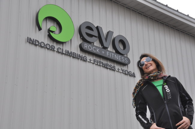 Hilary Harris in front of Portland Evo.  Photo: Evo