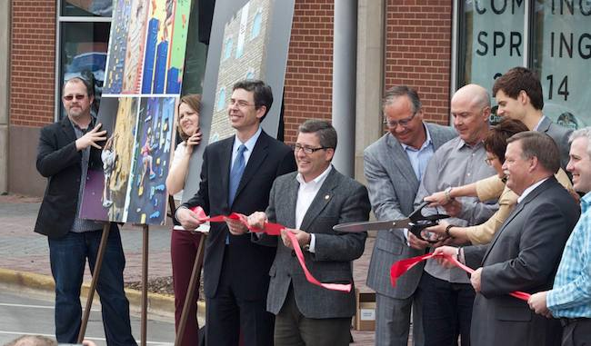 Ribbon cutting ceremony at The Block