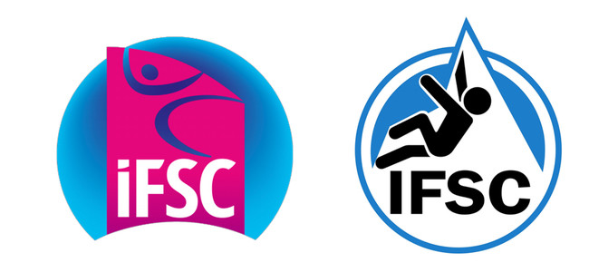 Left: New IFSC logo.  Right: Old IFSC logo